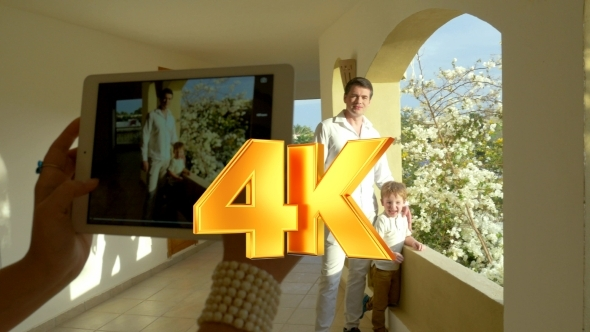VideoHive Taking Photos Of Dad And Son 12157555