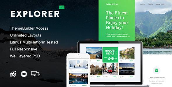 Explorer - Responsive Email + Themebuilder Access