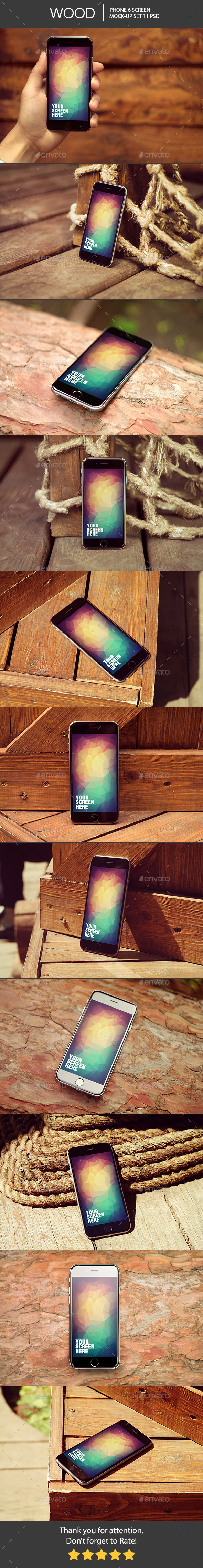 Wood Phone 6 Mock-Up