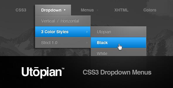 Utopian CSS3 Dropdown Menus