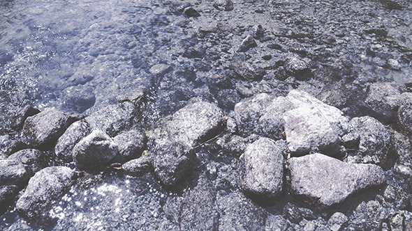 VideoHive Water Flows through the Rocks 12162103