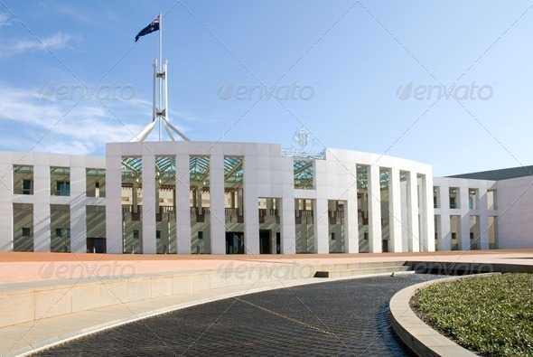 Parliament House, Canberra, Australia - Stock Photo - Images
