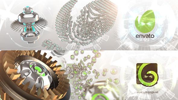 Sci Fi Swarm Microbot Logo Reveal