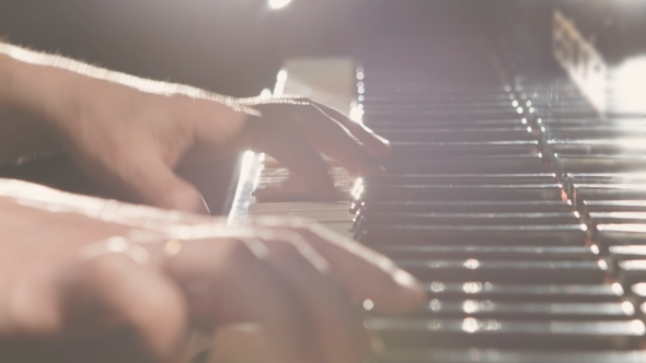 VideoHive Hands Playing The Piano 12163818