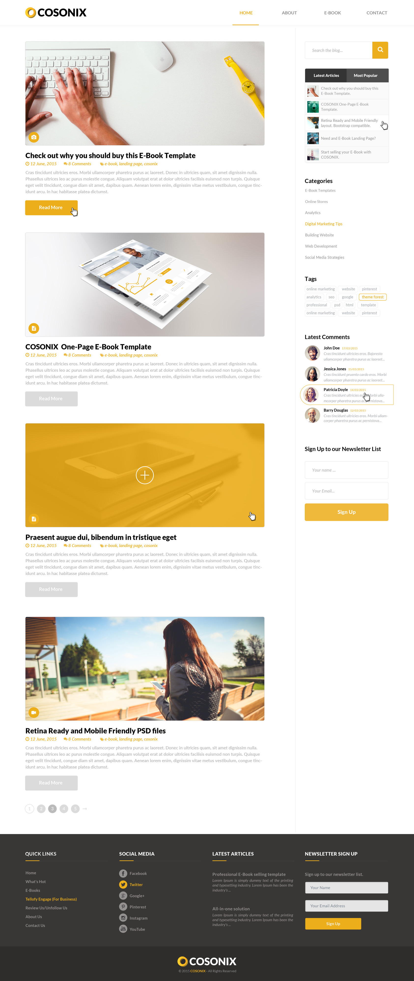 Cool 1 2 3 Nu Opgaver Kapitel Resume Small 1 Hexagon Template Regular 1 Inch Button Template 1 Year Experience Resume Format For Net Developer Old 10 Minute Resume Builder Fresh10 Off Coupon Template Cosonix One Page E Book PSD Template By Fluent Themes | ThemeForest