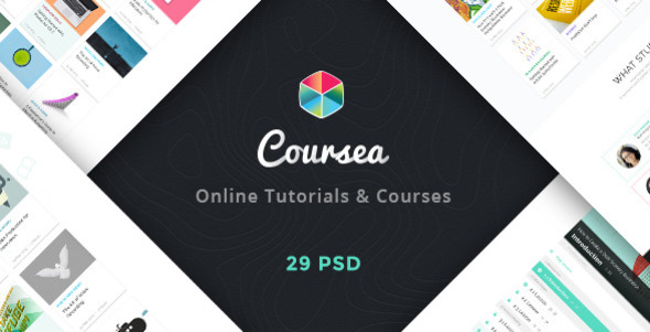 Coursea - Online Tutorials & Courses Template