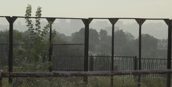 VideoHive Abandoned Tennis Courts in the Rain 12166079