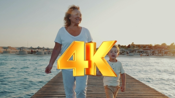 VideoHive Grandmother And Grandson Having Outdoor Walk On 12166170