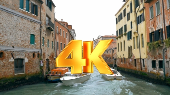 VideoHive Motor Boats Sailing On Canal In Venice 12166224