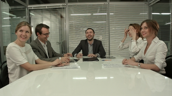 VideoHive Casual Business Team Laughing During Meeting In 12166231