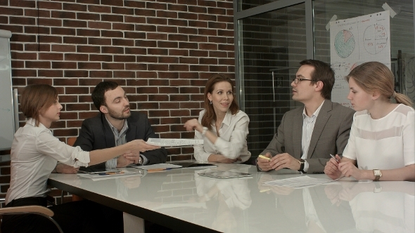 VideoHive Group Of Business People Brainstorming Together 12166282