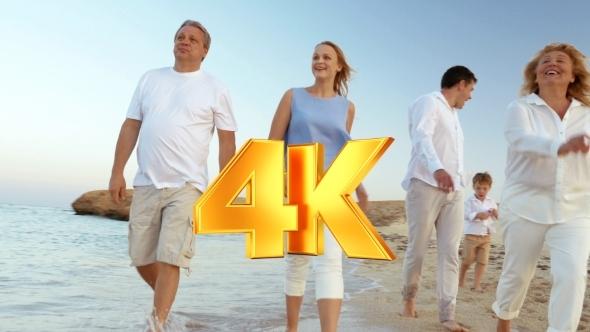 VideoHive Foot-Walk Alongside The Sea 12166313