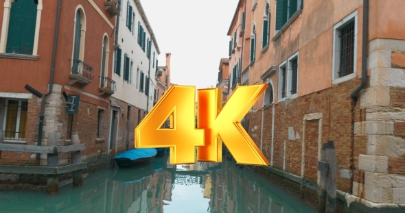 VideoHive View Of Venice With Its Canals And Vintage 12166315