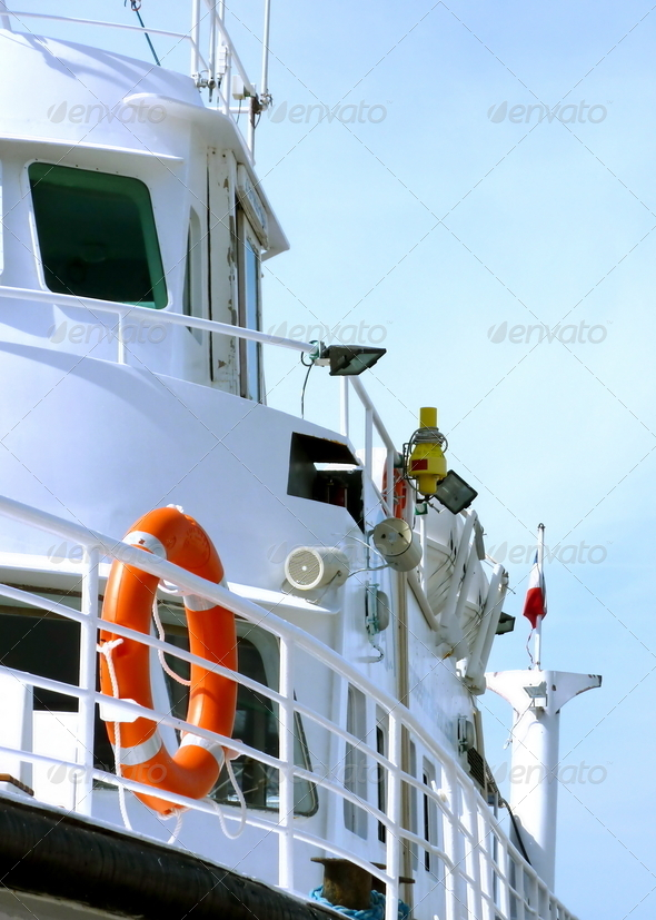 Side of a boat - Stock Photo - Images