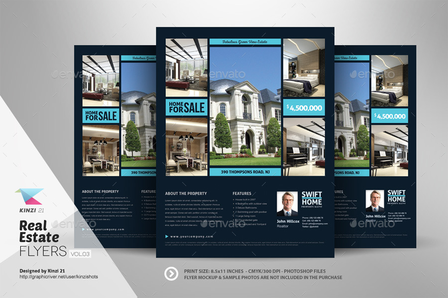 Real Estate Flyer Templates vol03 by kinzishots – Real Estate Brochure Template