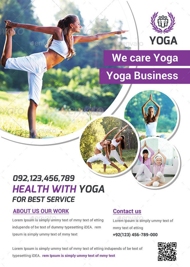 Yoga Flyer Template Bundle by afjamaal – Yoga Flyer