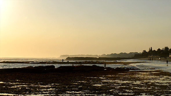 VideoHive Low Tide Beach in Sunset 12168269