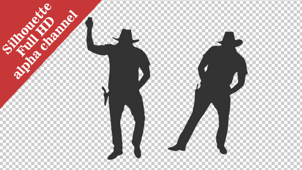 VideoHive Silhouette of a Man Dancing in Cowboy Hat 12168566