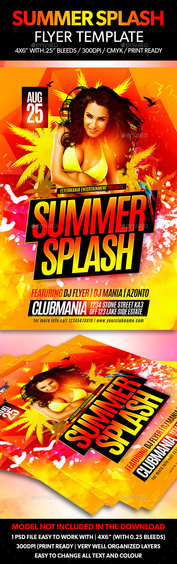 Summer Splash Flyer Template