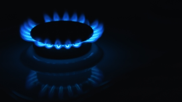 VideoHive Blue Gas Stove In The Dark 12170077