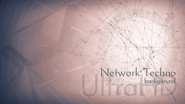 Network Techno Motion Background