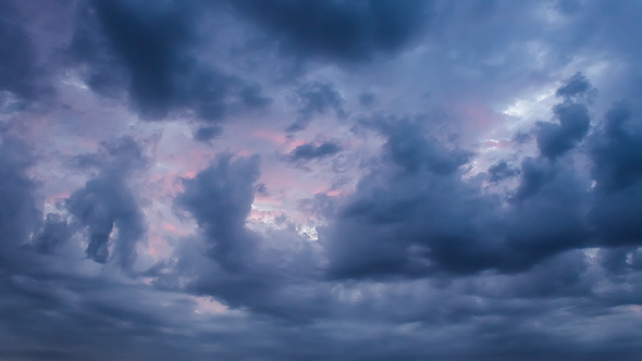 VideoHive Evening Overcast Clouds 12171056