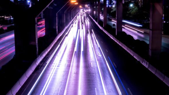 VideoHive Urban Traffic At Night 12171323