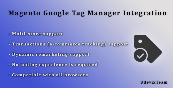 CodeCanyon Magento Google Tag Manager Integration 12096775