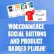 WooCommerce Social Buttons and Product Badges