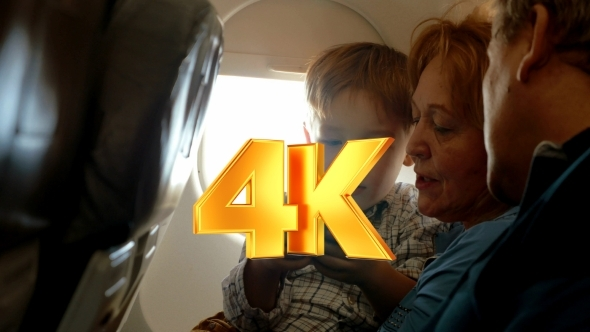 VideoHive He Has a Good Flight With Grandparents And Cell 12171912