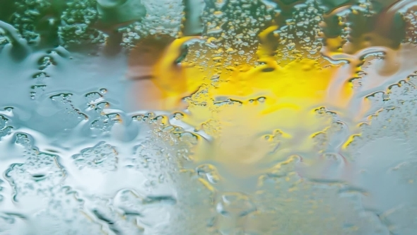 VideoHive Drops Of Rain Flowing Down On Car Glass At Storm 12171917