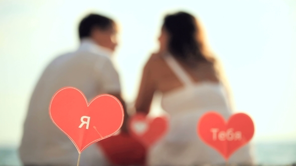 VideoHive Couple With Signs Of Love 12171937