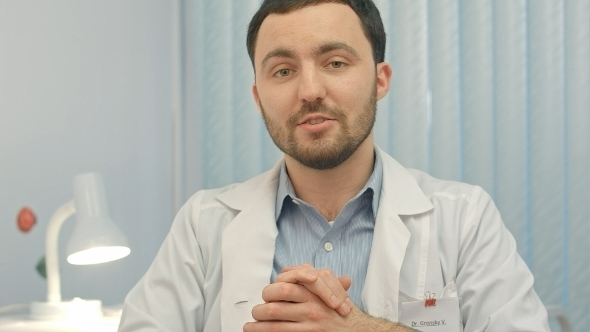 VideoHive Doctor Say On Camera At Hospital 12172506