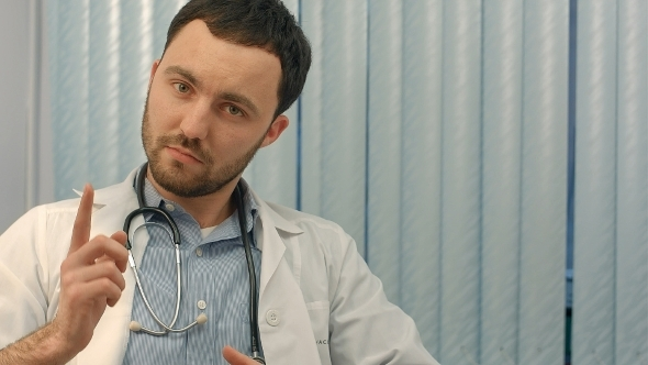 VideoHive Medical Doctor Man Warning You About a Bad Habit 12172612