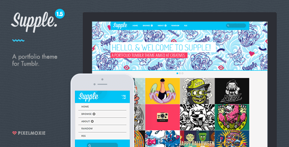 Supple - A Portfolio Theme for Tumblr