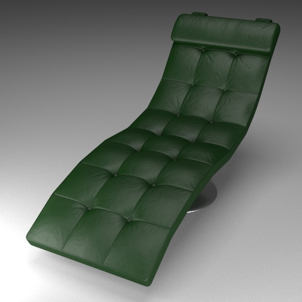 3DOcean Green Leather Lounger 12173963