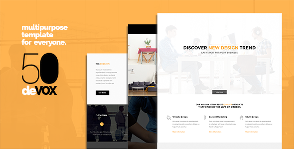 deVOX50 - Multi-Purpose WordPress Theme