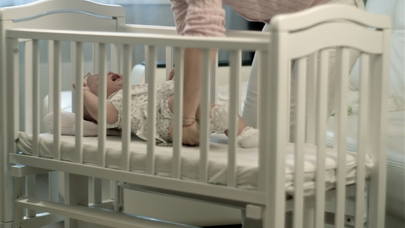 VideoHive Sleepy Baby In The Crib 12175256