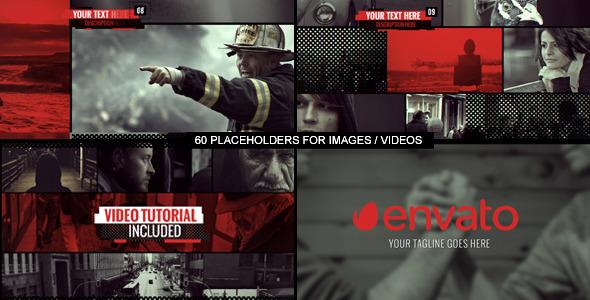 VideoHive Dynamic Glitch Sideshow 12175636
