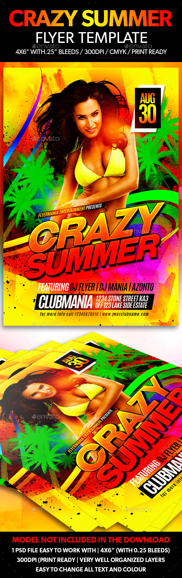 Crazy Summer Flyer Template