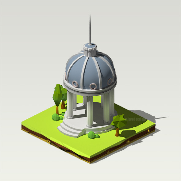 3DOcean Isometric Pantheon 12176076