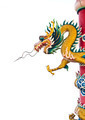 Dragon statue isolated on the white background. - PhotoDune Item for Sale