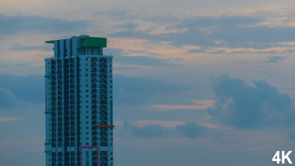 VideoHive Building On The Evening Clouds 12176930