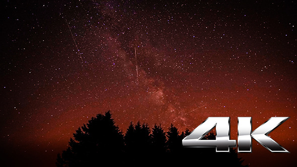 VideoHive Stars with Milky Way and Shooting Stars 12178133