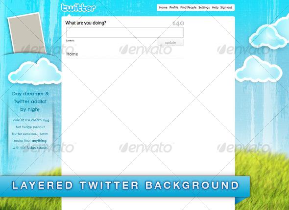 GraphicRiver Daydreamer Twitter Background 43429
