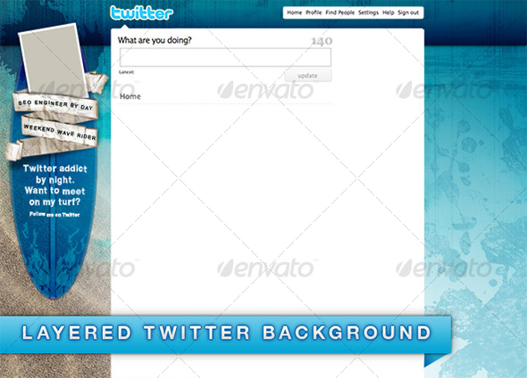 Surfer Background for Twitter - Miscellaneous Print Templates