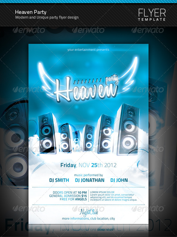 Heaven Party Flyer - Clubs & Parties Events