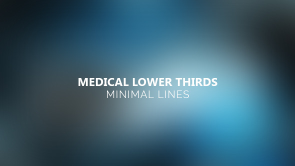 VideoHive Medical Lower Thirds Minimal Lines 12182059