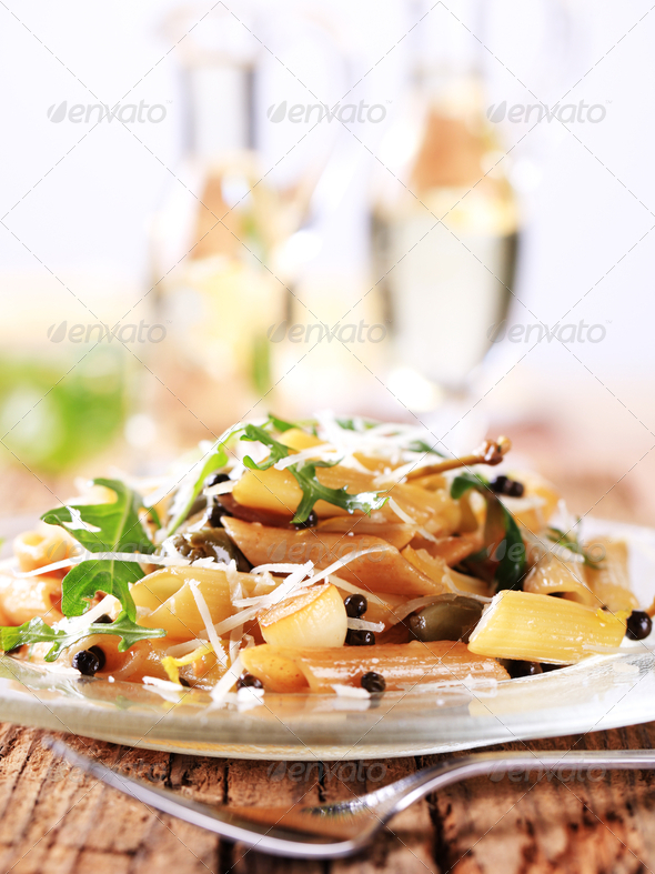 Pasta salad - Stock Photo - Images