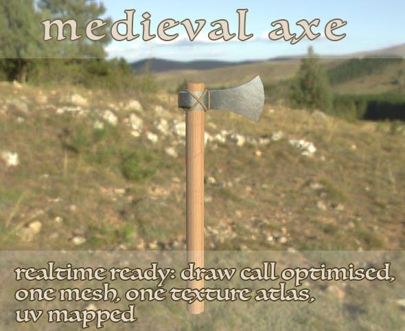 3DOcean Medieval Viking Axe LP 12183003